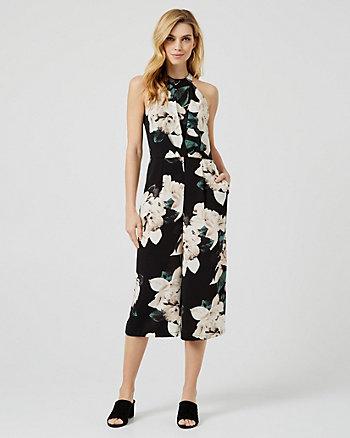 Floral Print Culotte Jumpsuit