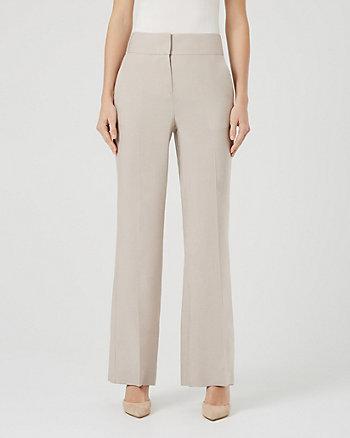 Linen Blend Wide Leg Pant