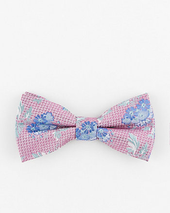 Floral Print Silk Bow Tie