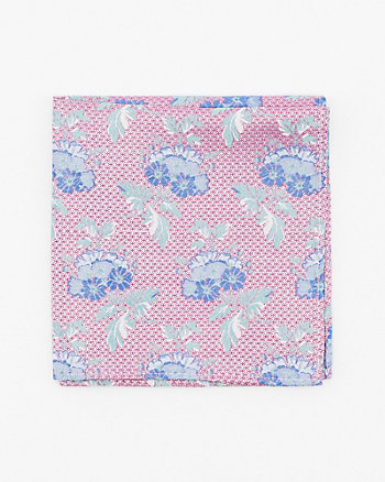 Floral Print Silk Bow Pocket Square