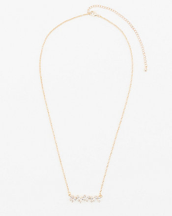 Cubic Zirconia Baguette Necklace