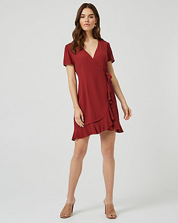 Wrap-Like Ruffle Dress
