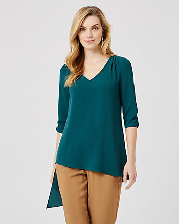 Asymmetrical Tunic Blouse