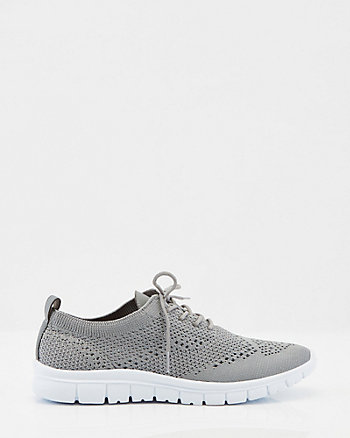 Knit Lace-Up Sneaker