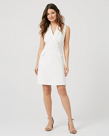 Ponte Knit Sleeveless Blazer Dress