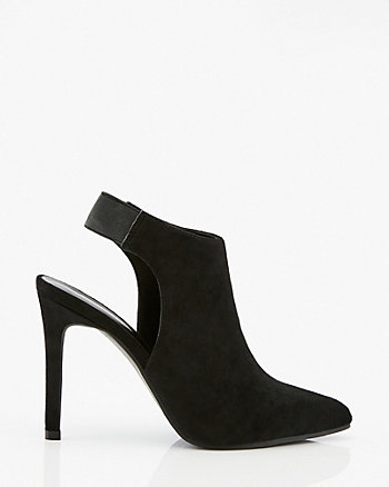 Faux Suede Pointy Toe Slingback Shootie
