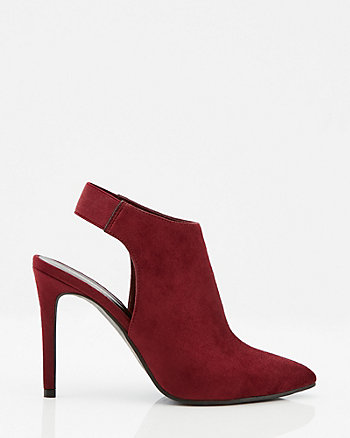 Faux Suede Pointy Toe Slingback Boot