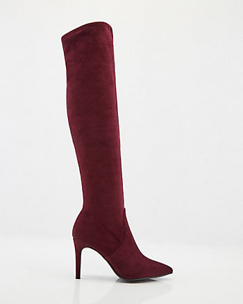 Stretch Faux Suede Over-The-Knee Boot