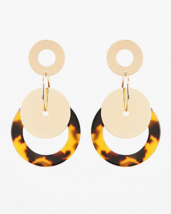 Marble Circular Drop Earrings