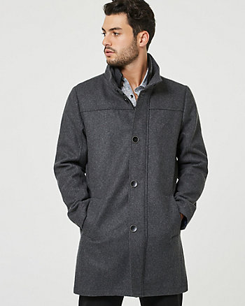 Melton Wool Blend Top Coat