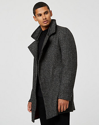 Bouclé Asymmetrical Top Coat