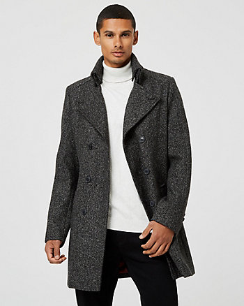 Bouclé Notch Collar Topcoat