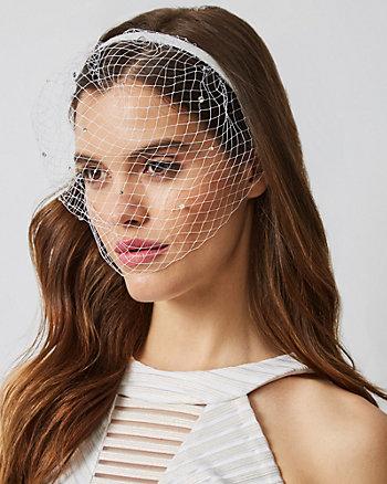 Gem Embellished Mesh Blusher Headband