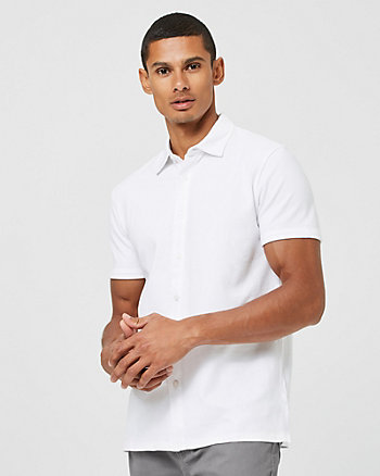 Knit Slim Fit Short Sleeve Shirt