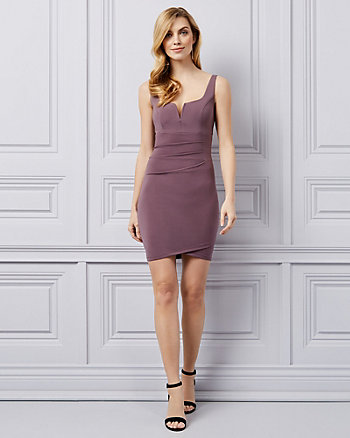 Knit Pleated Scoop Neck Dress
