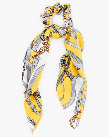 Chain Link Print Scarf Scrunchie
