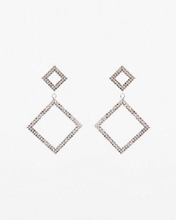 Gem Encrusted Drop Earrings
