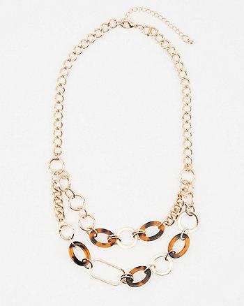 Tortoise Double Chain Necklace