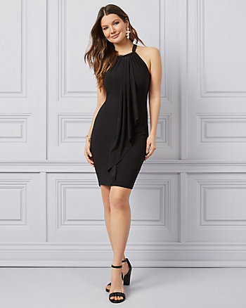 Knit Halter Neck Dress