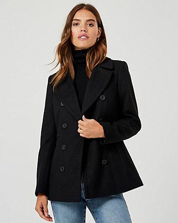 Cashmere-like Notch Collar Peacoat