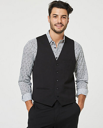 Ponte Knit Contemporary Fit Vest