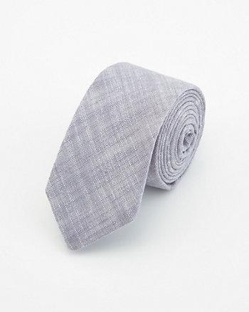Cravate à motif en mélange de lin