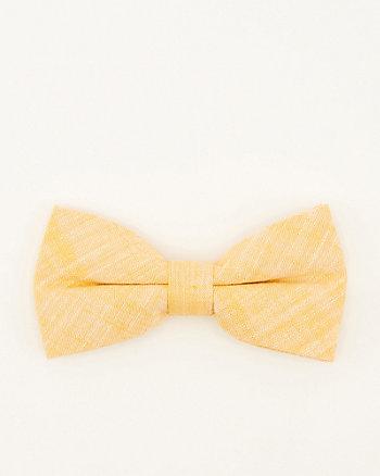 Tonal Linen Blend Bow Tie