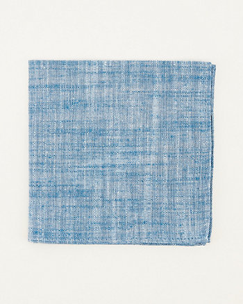 Tonal Linen Blend Pocket Square