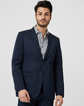 Shiny Twill Contemporary Fit Blazer