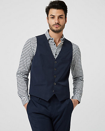 Shiny Twill Contemporary Fit Vest