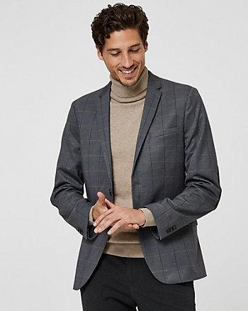 Veston à carreaux en tricot