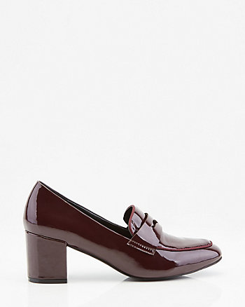 Patent Faux Leather Loafer Pump