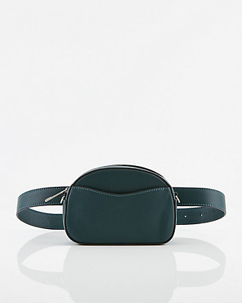 Saffiano Faux Leather Belt Bag