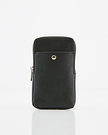 Faux Leather Crossbody Wallet Bag