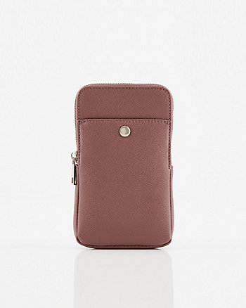 Faux Leather Crossbody Wallet Bag