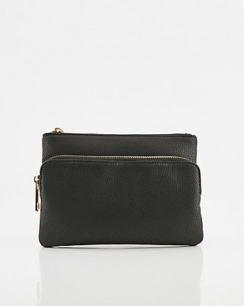 Pebbled Faux Leather Belt Bag