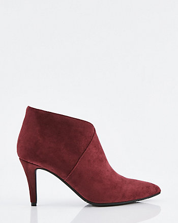 Faux Suede Pointy Toe Ankle Shootie