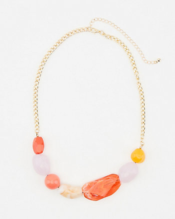 Chunky Bead Collarbone Necklace