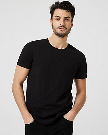 Cotton Slub Crew Neck T-Shirt