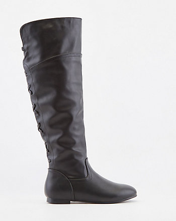Faux Leather Over-the-Knee Boot