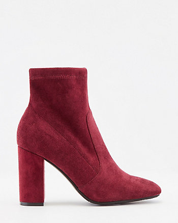 Stretch Faux Suede Sock Boot