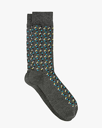 Zig-Zag Print Cotton Blend Sock