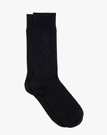 Argyle Bamboo Blend Socks