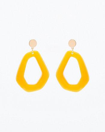 Acrylic Geometric Drop Earrings