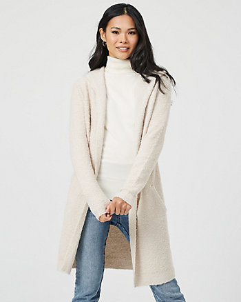 Bouclé Hooded Sweater Coat