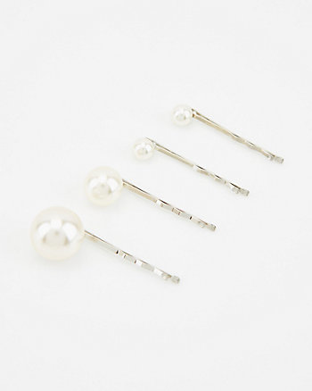 Set of Four Pearl Bobby Pins
