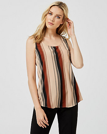 Stripe Scoop Neck Tank Top