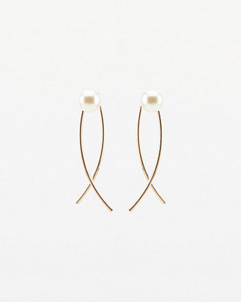 Pearl-Like Encrusted Drop Earrings