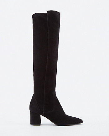 Italian-Designed Suede Knee-High Boot