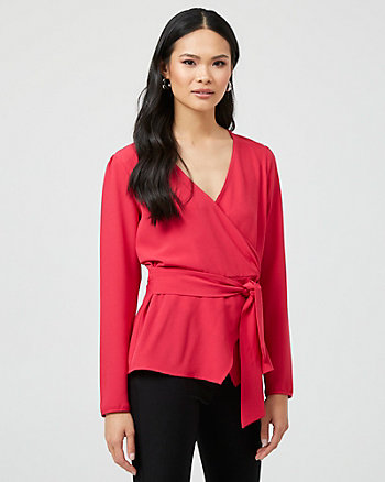 Stretch Wrap-Like Blouse